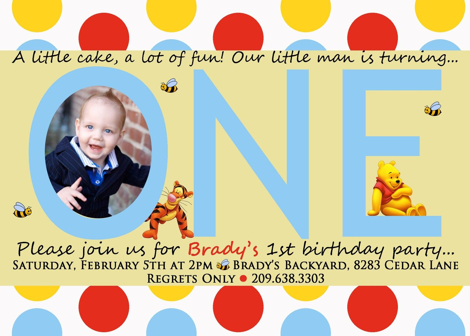 download free template winnie the pooh invitations for 1st birthday