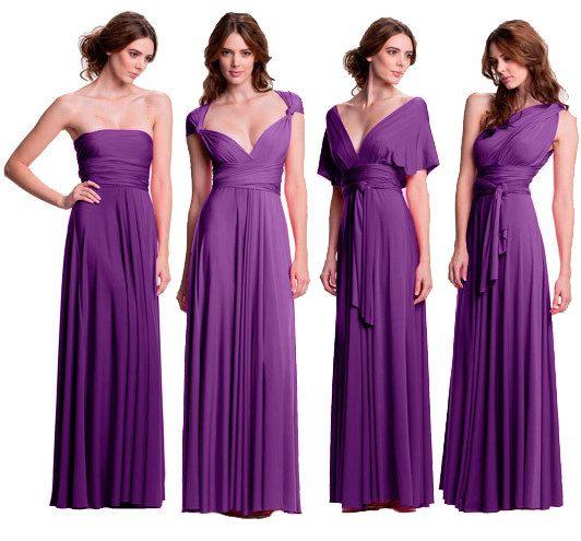 589a185cec5 Convertible floor length bridesmaids dress