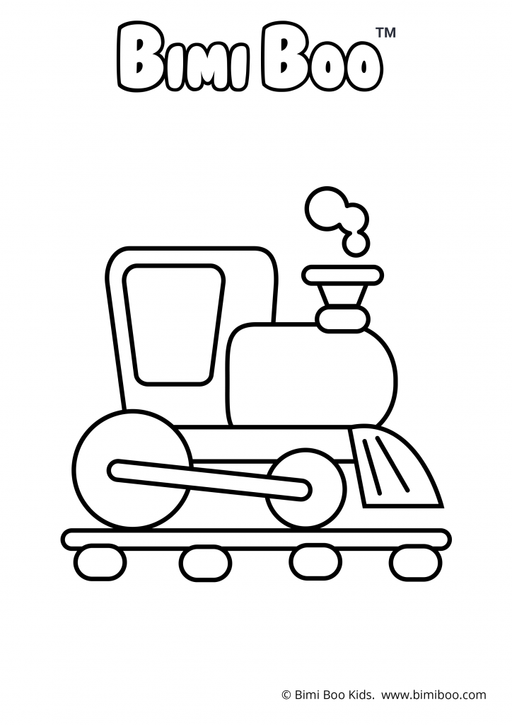 Free To Color Pictures Coloring Train Cars Bimi Boo Kids Coloring Craft Craftforkids Coloringpages Coloringbook Printables Preschoolers