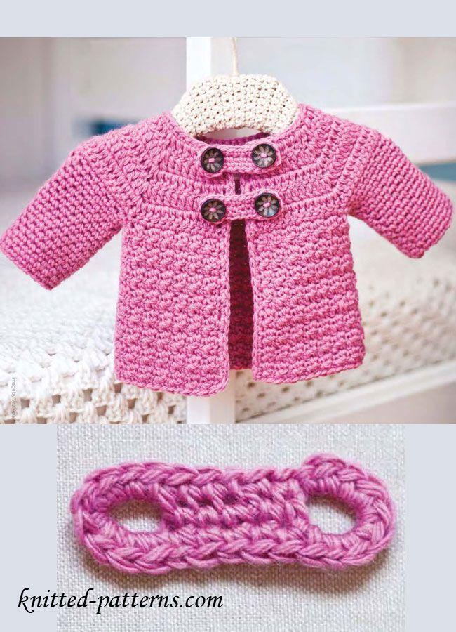 Free Crochet Baby Jacket Pattern | crochet | Pinterest | Bebe, Sacos ...