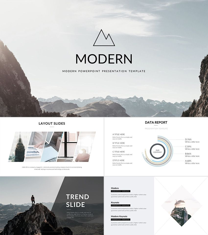 modern - powerpoint template | powerpoint presentation templates, Modern powerpoint