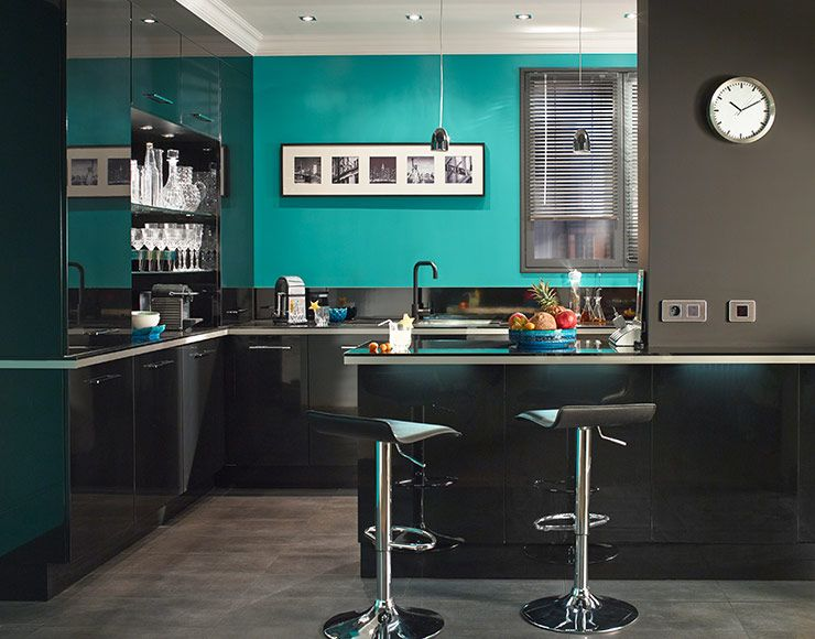 Castorama Cuisine Gossip Noir Une Brillante Idée De La Cuisine - Meuble cuisine bar pour idees de deco de cuisine