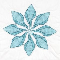 White 18in Quilt Squares Floral Pinwheel