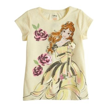 a0123e935cc4e Disney's Beauty & The Beast Belle Girls 4-10 Sequin Graphic Tee by Disney/Jumping  Beans®