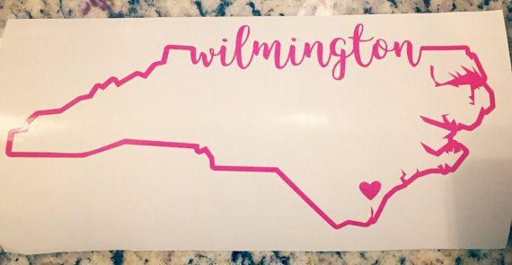 Wilmington north carolina vinyl decal wilmington by branchandco