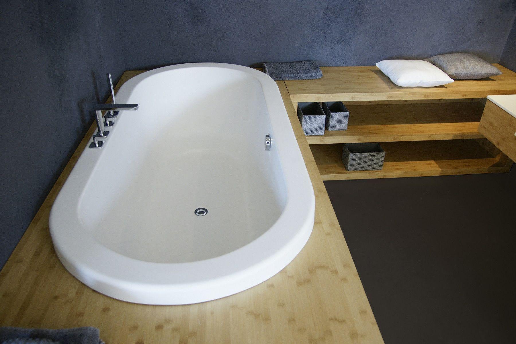 Aquatica Carol Drop-In: Huge Sunken Soaking Tub for Two | Stone ...