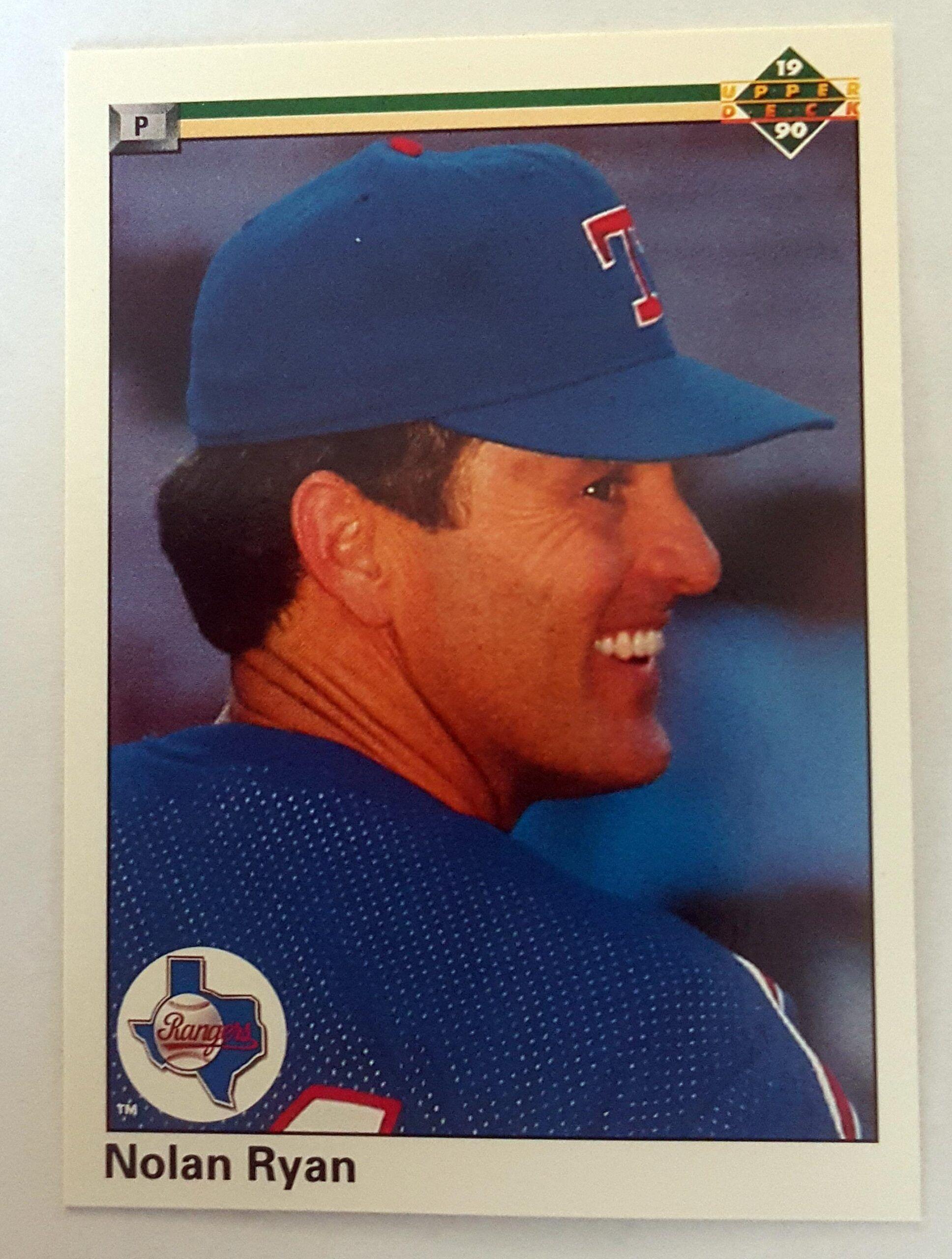Nolan Ryan Upper Deck 1990 Card 544 Texas Rangers Comics Cards And Nolan Ryan Texas Rangers Upper Deck Baseball Cards