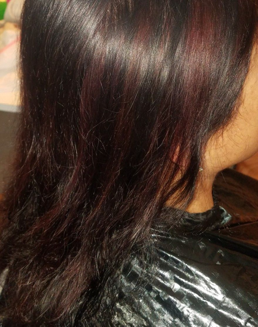 Trying the new redken shades eq 4cb at a home visit