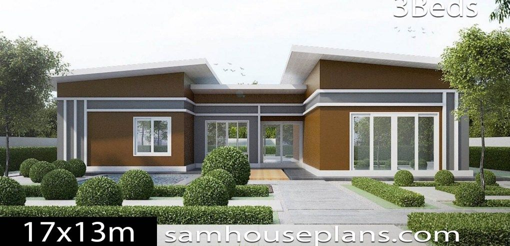 House Plans Idea 17x13 With 3 Bedrooms Sam House Plans Simple House Plans House Plans New House Plans