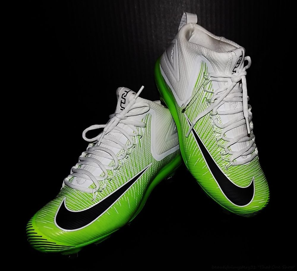 b84ec0b25 Nike Zoom Trout 3 Luminescent White Neon Green Men s Metal Baseball Cleats  US 9  NikeZoomTrout3