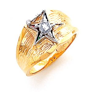 Past Matron Eastern Star Ring 10k Gold Eastern Star Jewelry Eastern Star Star Ring