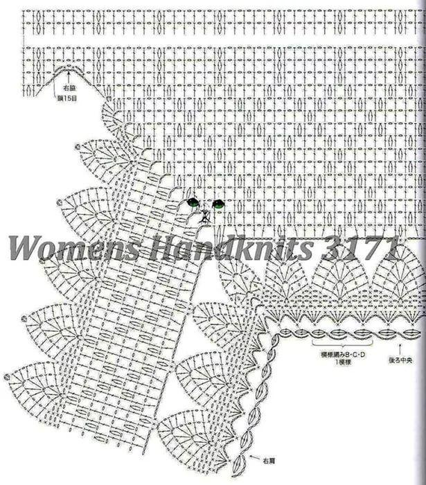 кофточки вязанные крючком со схемами и описанием: 26 тыс ...
