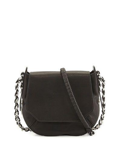 RAG & BONE Bradbury Flap-Top Chain Bag. #ragbone #bags #shoulder bags #leather #hobo