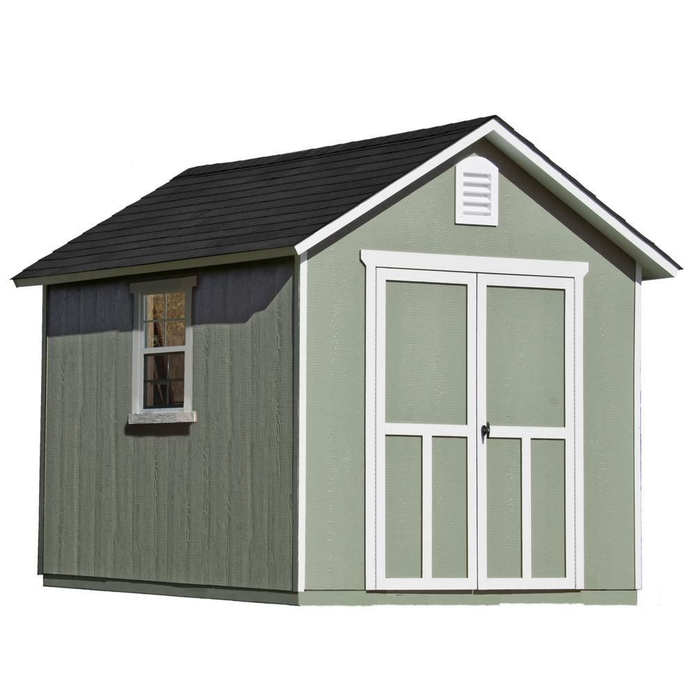 Handy Home Products Installed Meridian 8 Ft X 10 Ft Wood Storage Shed With Black Onyx Shingles 60755 4 Building A Shed Diy Storage Shed Plans Wood Storage Sheds