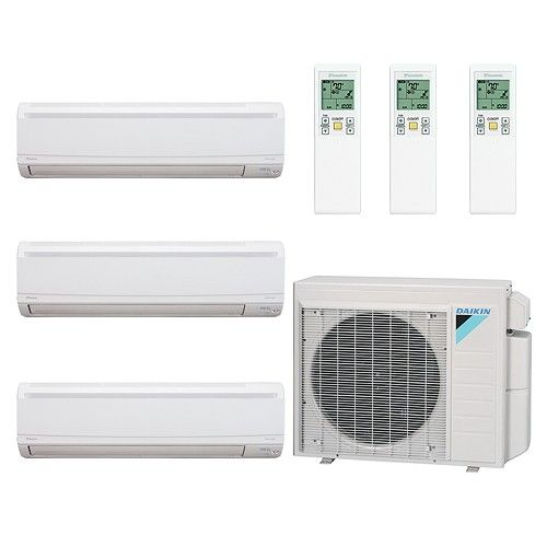 36 000 Btu 17 Seer Tri Zone Wall Mounted Daikin Mini Split Heat