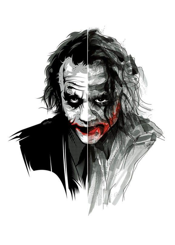 The Joker Black Red Edition Art Print By Ink A Zoid Joker Drawings Joker Wallpapers Joker Images