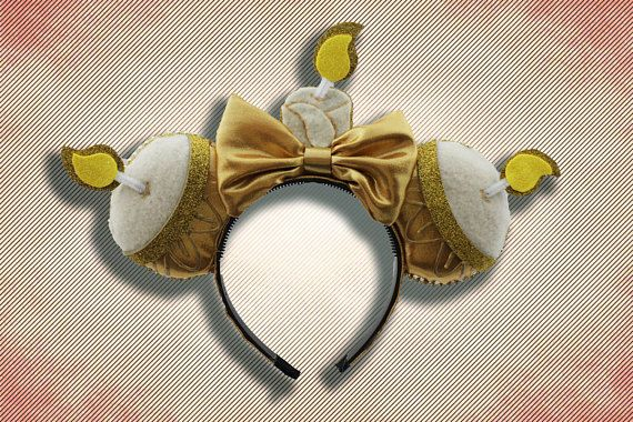 2d21231becde Enchanted Candlestick Mouse Ear Headband with Bow