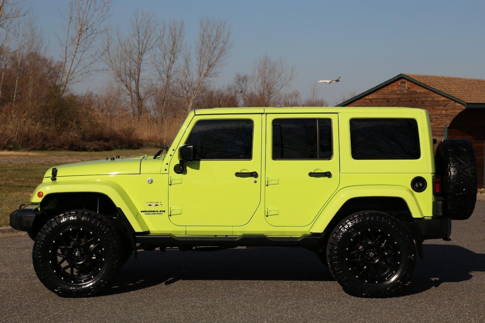 Ebay 2016 Jeep Wrangler Unlimited Sahara 2016 Jeep Wrangler Unlimited Hyper Green 7k Miles 1 O Jeep Wrangler Unlimited Jeep Wrangler Wrangler Unlimited Sahara