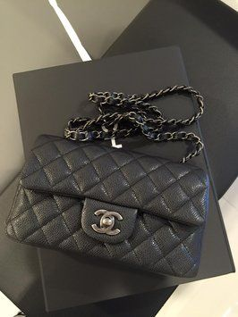 Chanel Nib Small Mini Flap Rhw Black Cross Body Bag. Get the trendiest Cross  Body Bag of the season! The Chanel Nib Small Mini Flap Rhw Black Cross Body  Bag ... 8e73e9a244931