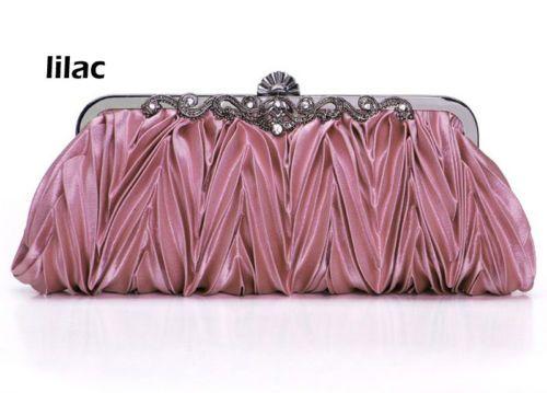 Pink Women Lady Vintage Pleated Line Evening Bag clutch bag chain bag CWM11