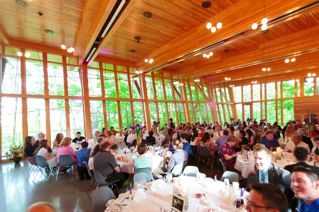 wedding reception at the bissell tree house in grand rapids mi