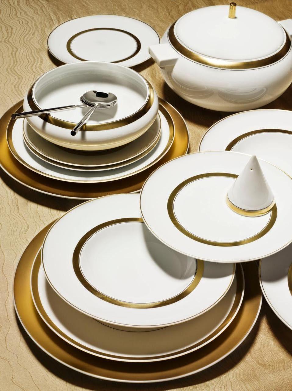 Domo Gold Small Oval Platter Tableware Porcelain Dinnerware Dinnerware
