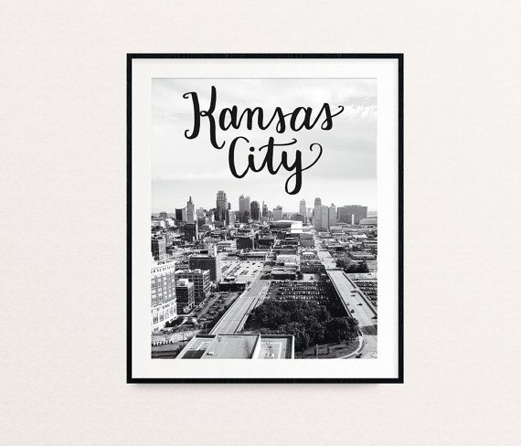 Kansas city skyline kansas city art kansas city print kansas city kc print kc missouri art missouri wall art black and white prints