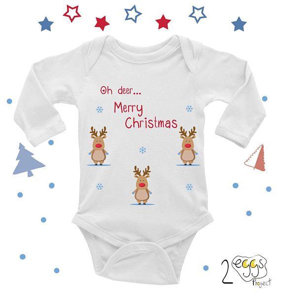 christmas baby onesie christmas deer pajamas deer onesie