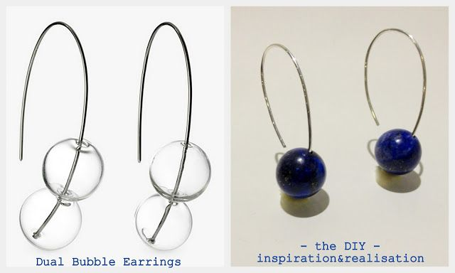 1*****vs*****ispirazione e realizzazione: fai da te moda blog: orecchini bolla fai da te