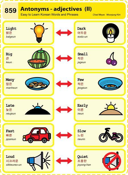 Easy to Learn Korean 859 – Antonyms – Adjectives (Part Two) | Korean
