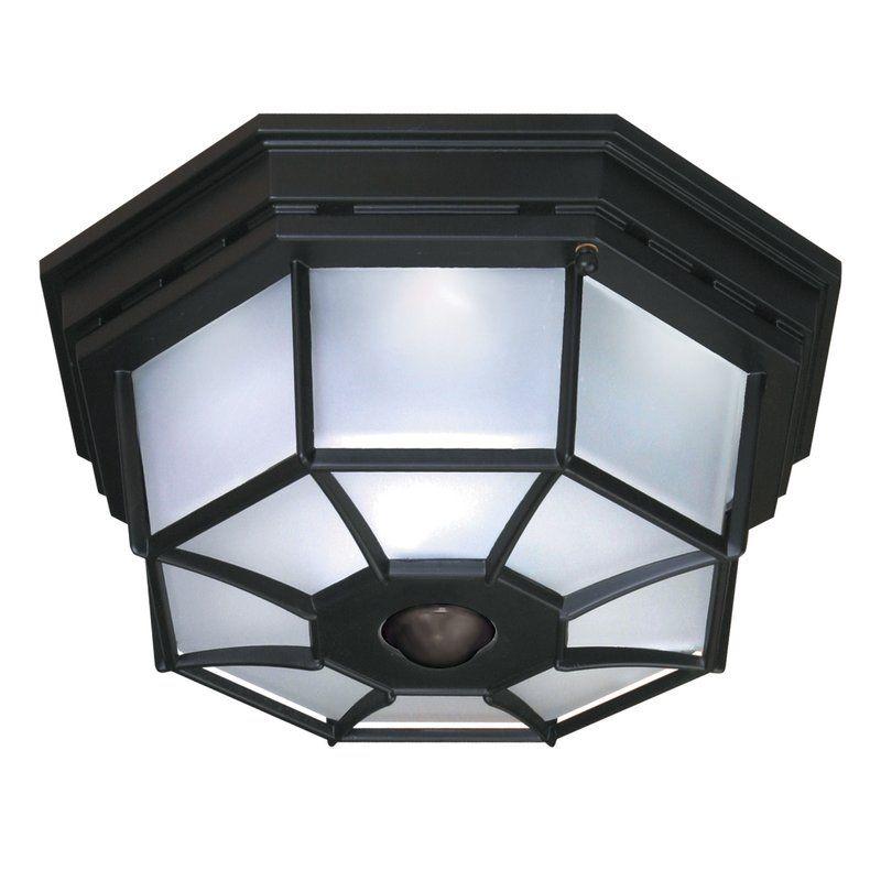 Heath Zenith 4 Light Octagonal Flush Mount With Motion Sensor Reviews Wayfair Outdoor Ceiling Lights Ceiling Lights Motion Sensor Lights Porch ceiling lights with motion sensor