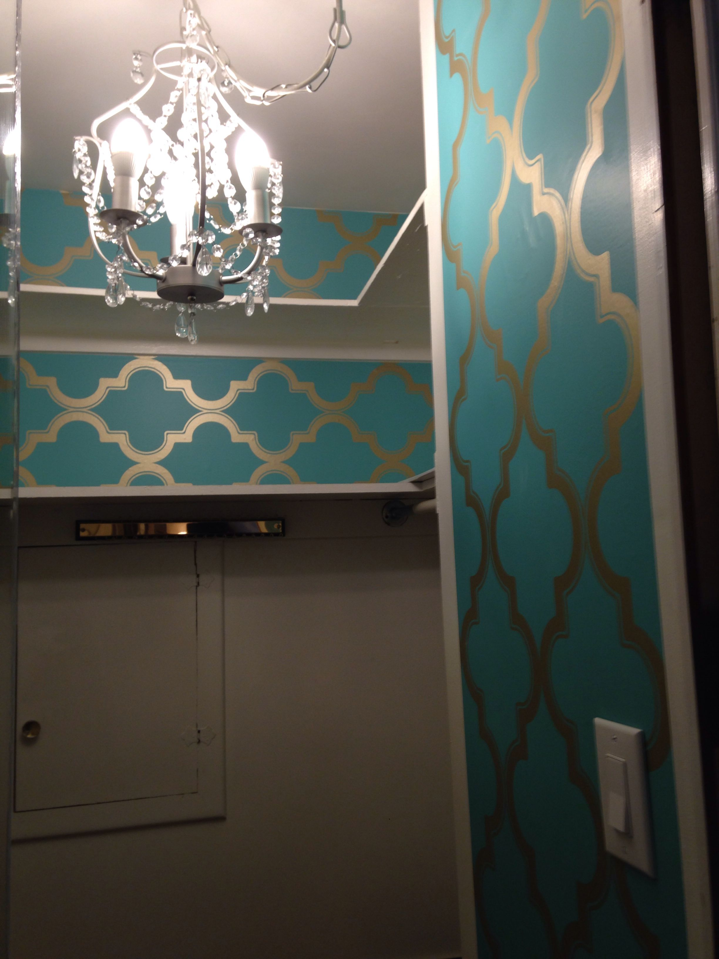 Easy master closet update IKEA chandelier $40 moveable