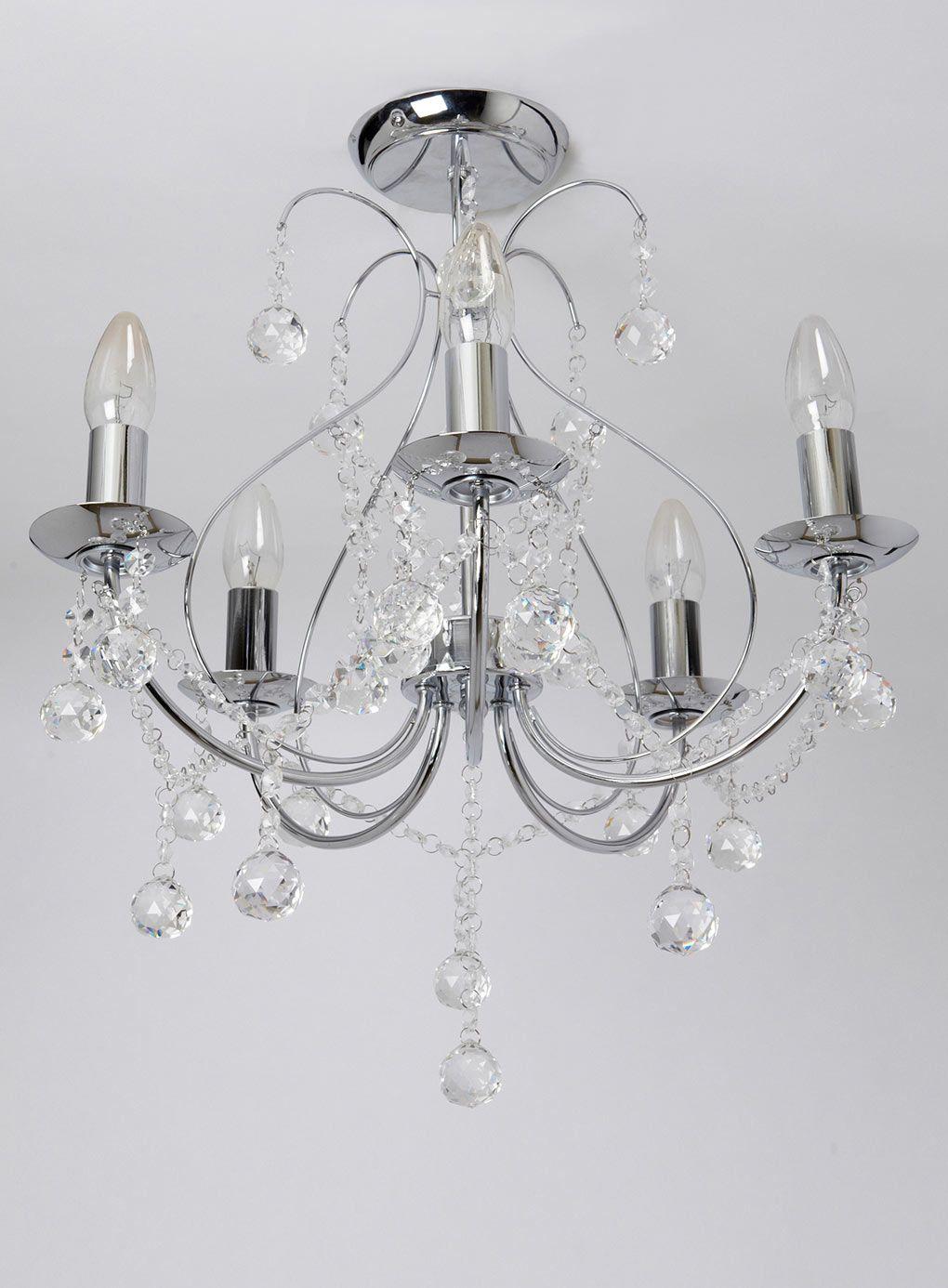 Sapparia 5 Light Flush Chandelier - BHS & Sapparia 5 Light Flush Chandelier - BHS | Living room | Pinterest ...
