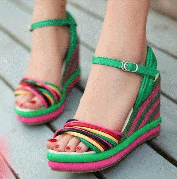 30 Latest Summer Wedge Heels and Sandals 2015 UK #summersandals ...