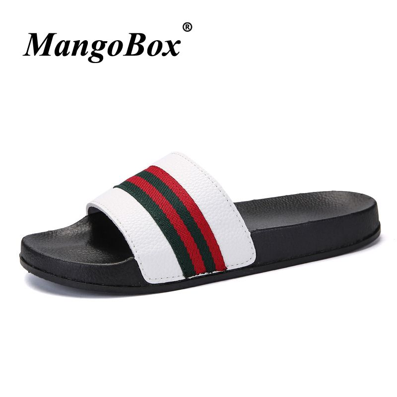 aed406c01ea1 Men Slippers Summer Flat 2018 Summer Men Shoes Breathable Beach Slippers  Wedge Black White Flip Flops Men Brand Slides Slippers Price   28.47   FREE  ...