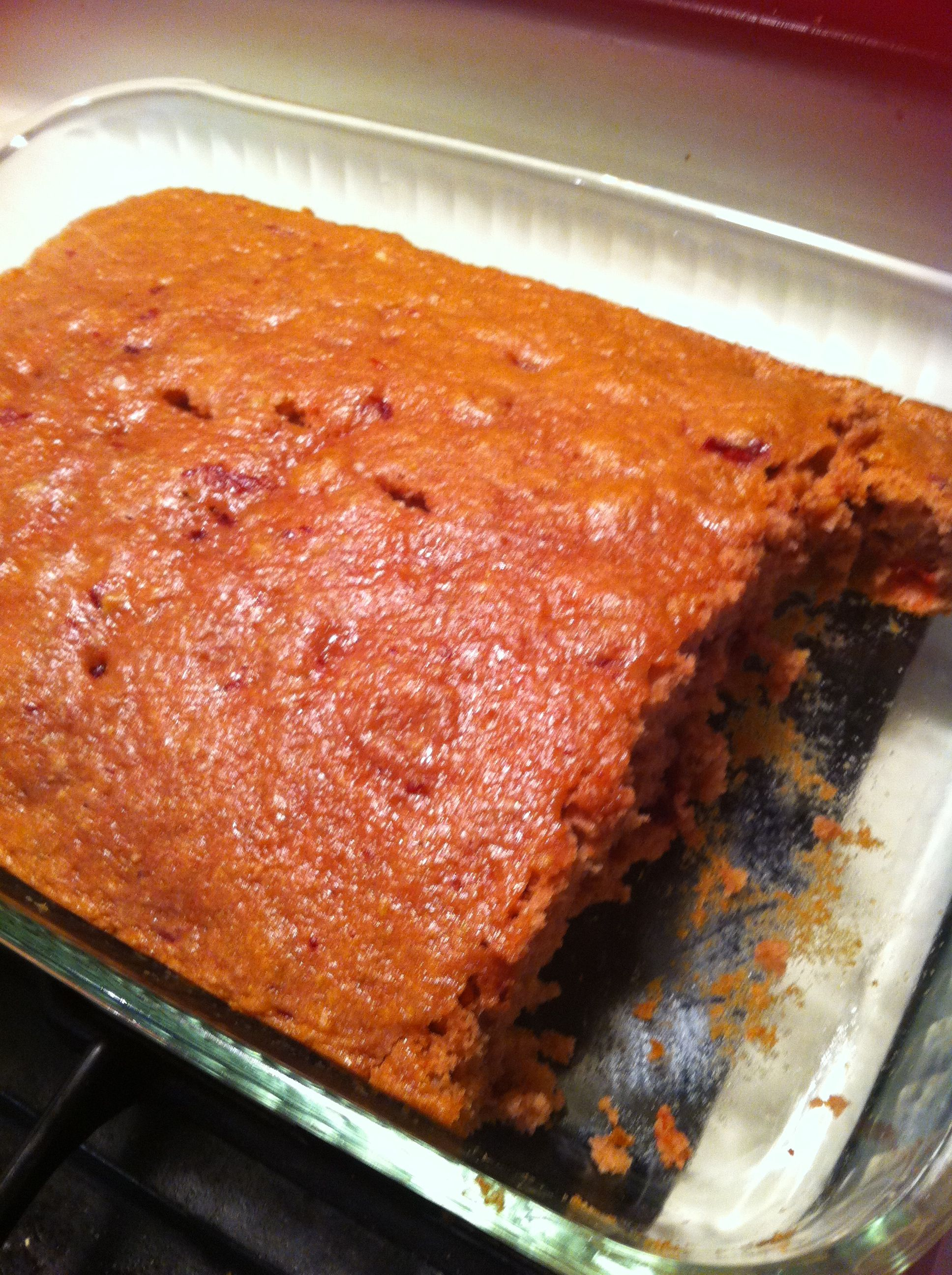 Cherry Cake One Box Yellow Cake Mix 3 Eggs Can Of