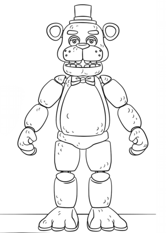 FNAF Toy Golden Freddy Coloring page | Look Tyler - Wall Ideas ...