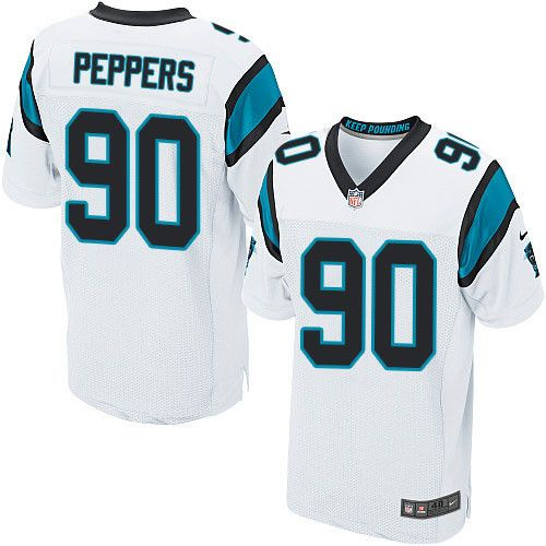 save off b8dde fc7c4 Nike Panthers #90 Julius Peppers White Men's Stitched NFL ...