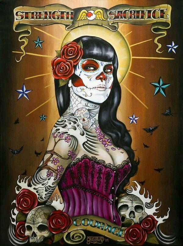 Cholos Cholas Azteca Tattoo Graffiti Gangster Weed Cannabis Charra Catrina Payasa Marihuana Calaveras Art
