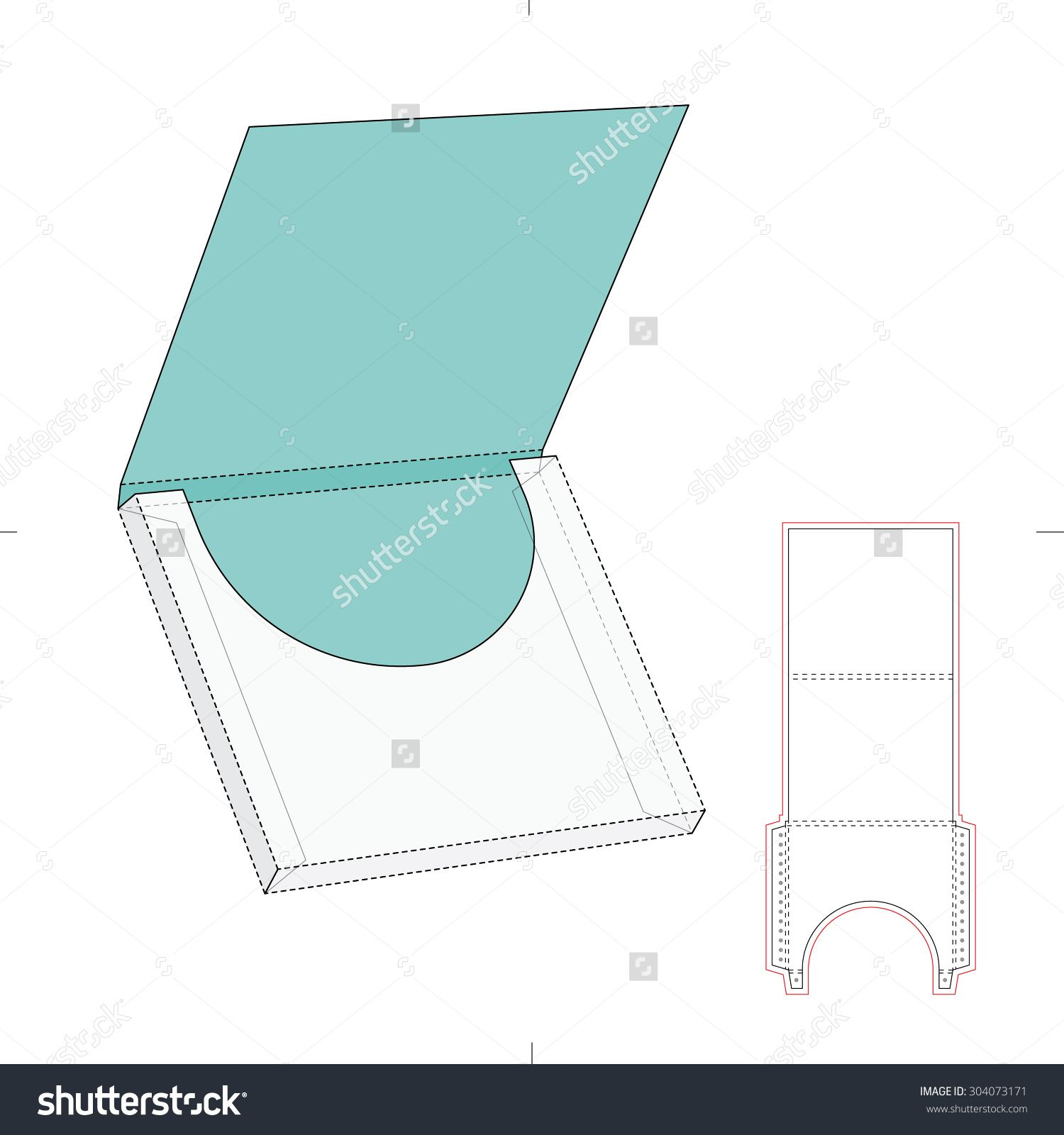 Square wrap envelope and blueprint template stock vector book binding malvernweather Gallery