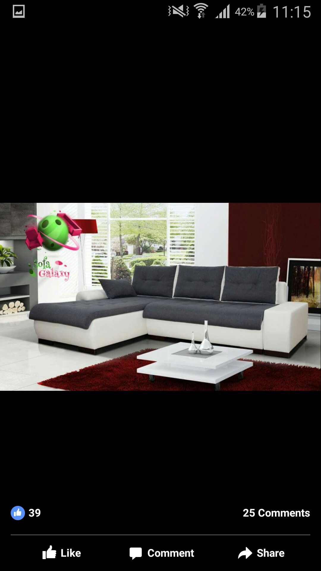 """INFINITY """"XL"""" 6 SEATER EXTRA LARGE FAUX LEATHER & FABRIC"""