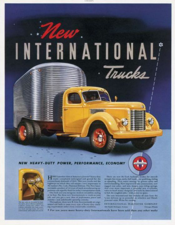 Old International Trucks | Old Car Ads Home | Old Car Brochures