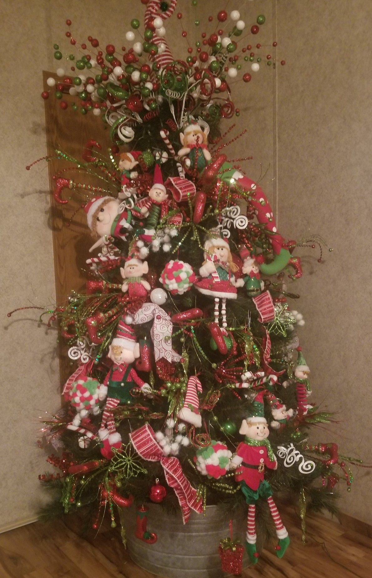 Elf Christmas Tree Elf Christmas Decor Christmas Tree Deco Exchange Picks Kelea S Picks Red Lime Green And W Elf Christmas Tree Christmas Tree Christmas
