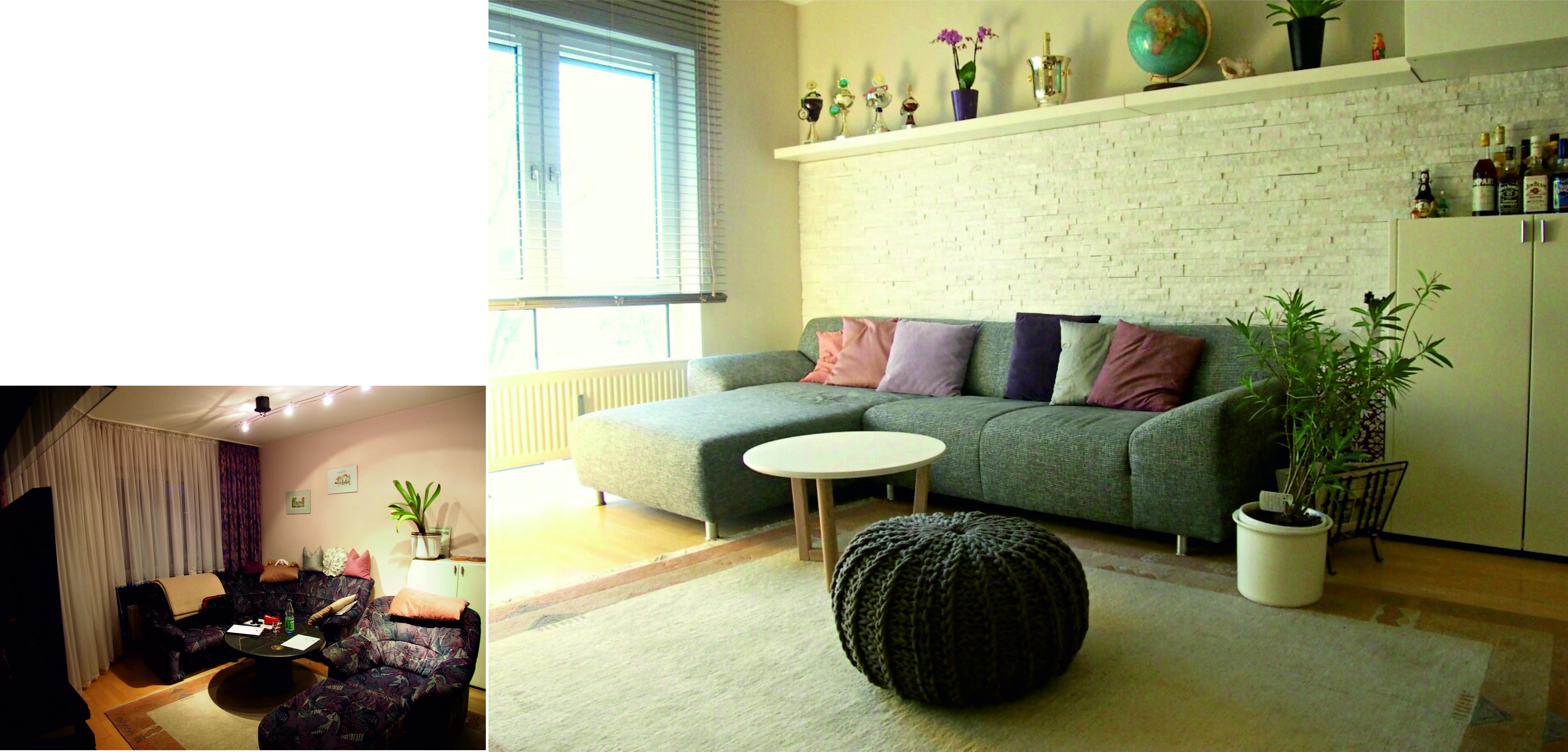 kleines wohnzimmer einrichten vorher nachher Living room Bilder