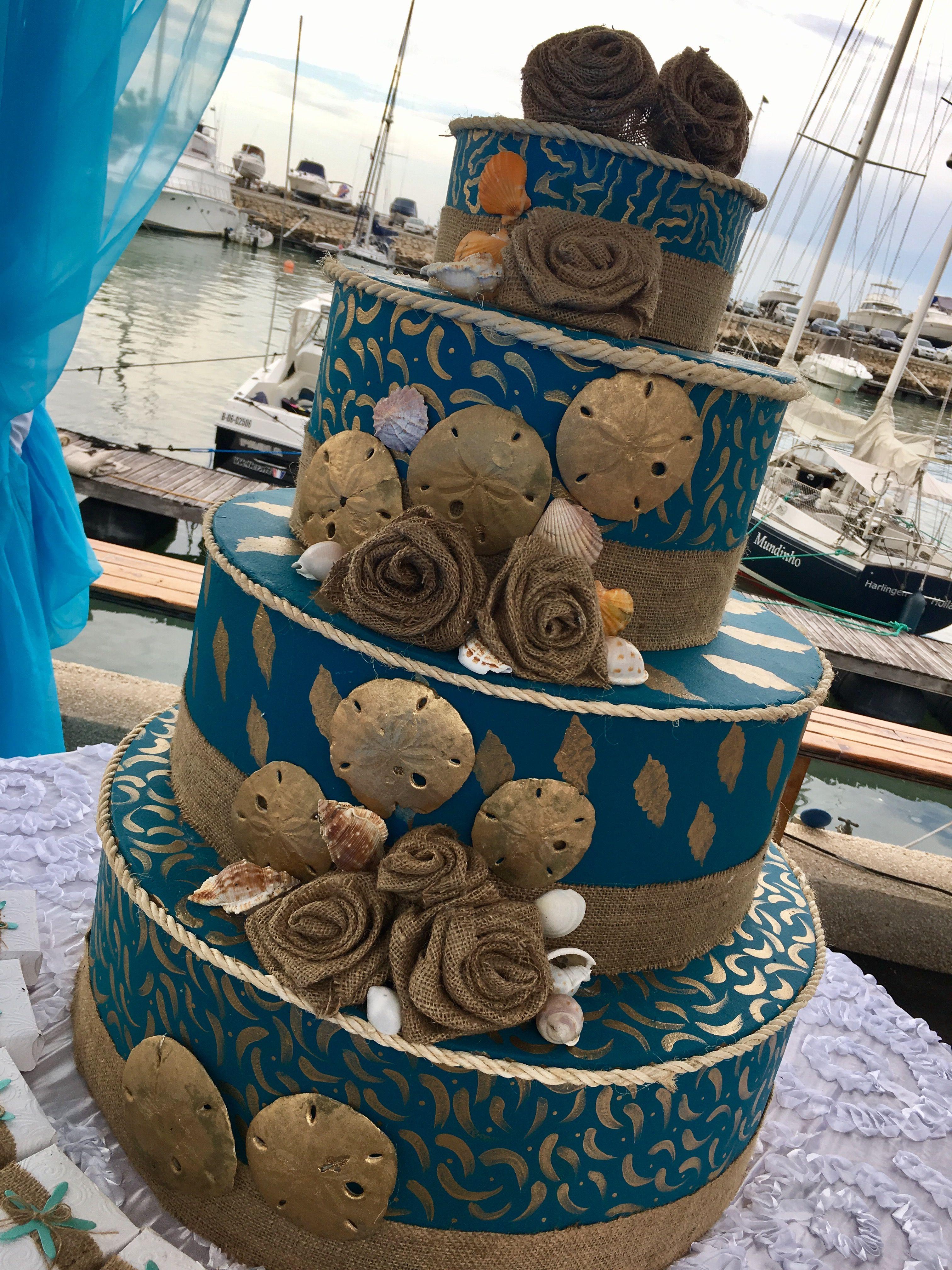 Torta para boda en la playa by Ana María Balda