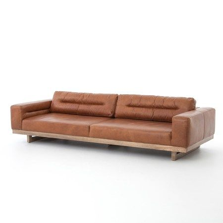 Froster Contemporary Leather Low Back Sofa