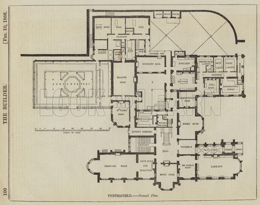 Tyntesfield Ground Plan House Floor Plans How To Plan Country House Plans