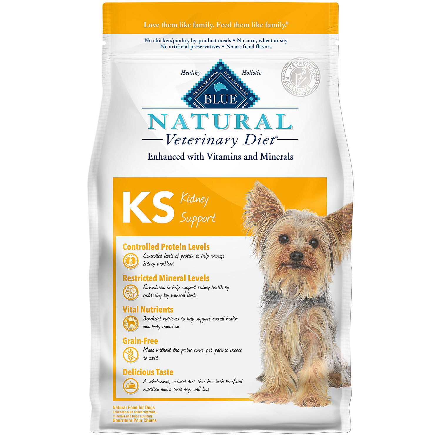 Blue Buffalo Blue Natural Veterinary Diet Ks Kidney Support Dry