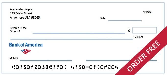 Order Bank Of America Checks With