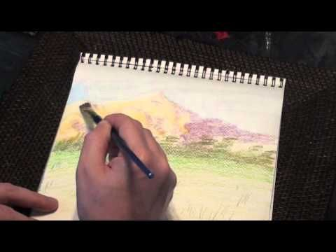 Derwent Watercolor Pencils Vs Inktense Pencils Youtube